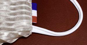Masque tissu lavable AFNOR et personnalisé made in France | Le point francais